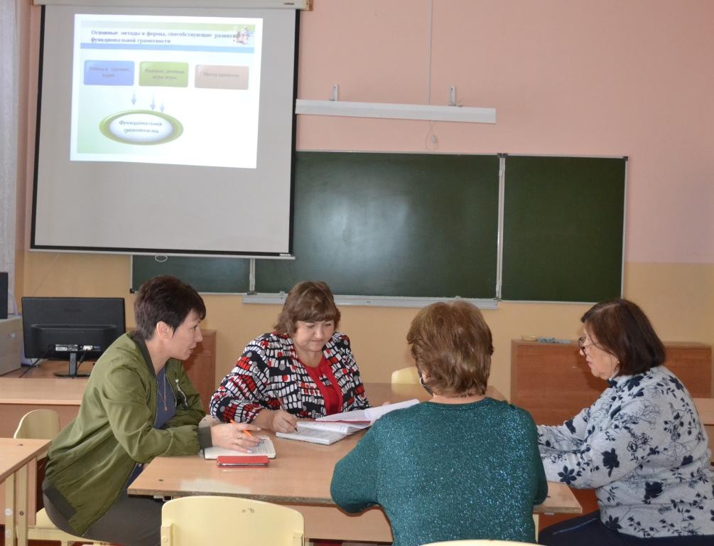 Заседание школьного методического объединения учителей